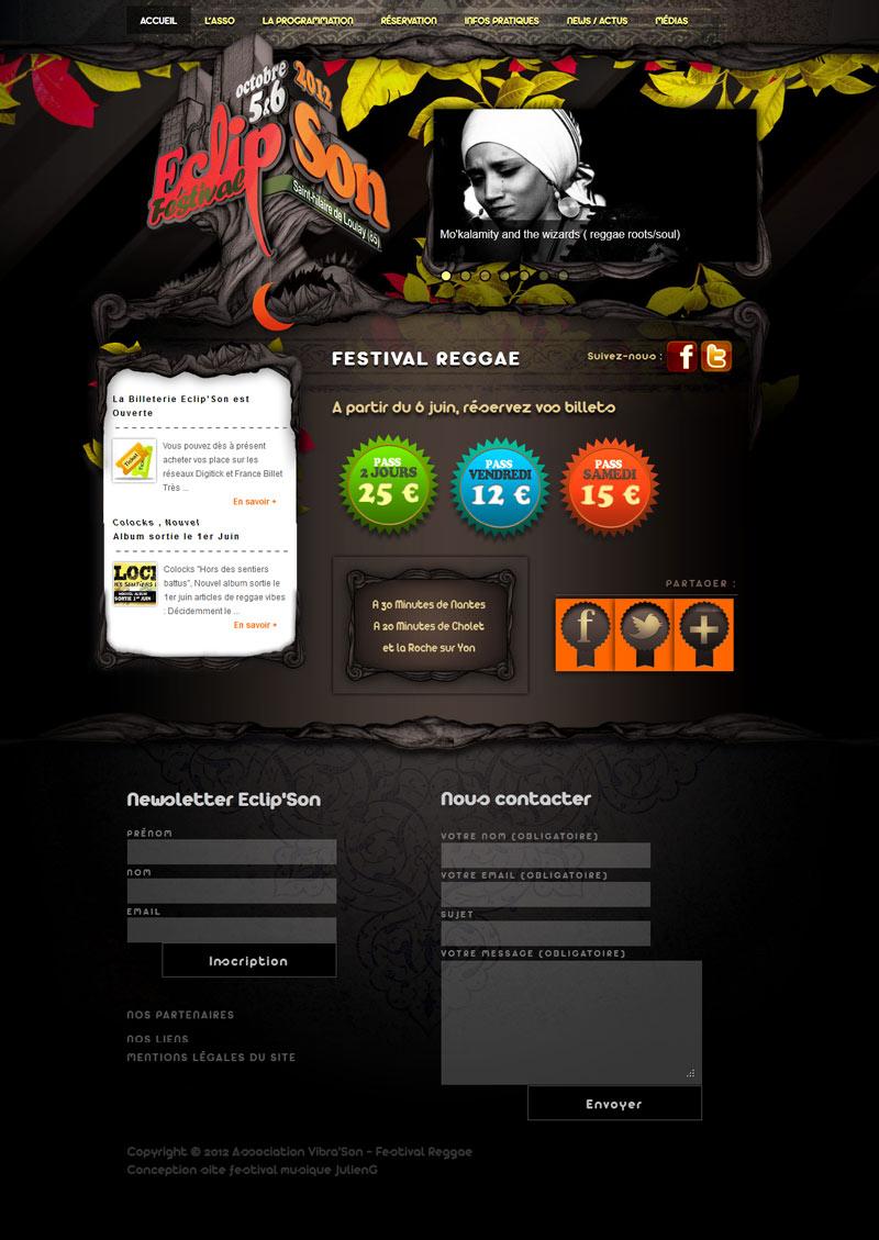 julieng webdesigner graphiste cr ation de sites festival eclipson. Black Bedroom Furniture Sets. Home Design Ideas