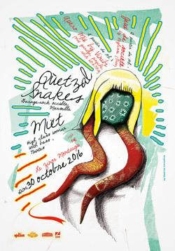 illustration-affiche-concert-quetzalsnakes-miet
