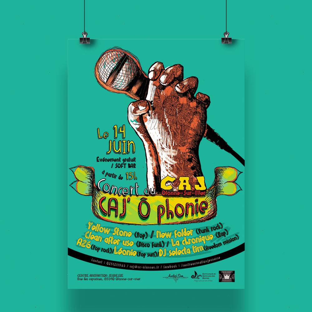 Affiche Concert CAJ'O Phonie
