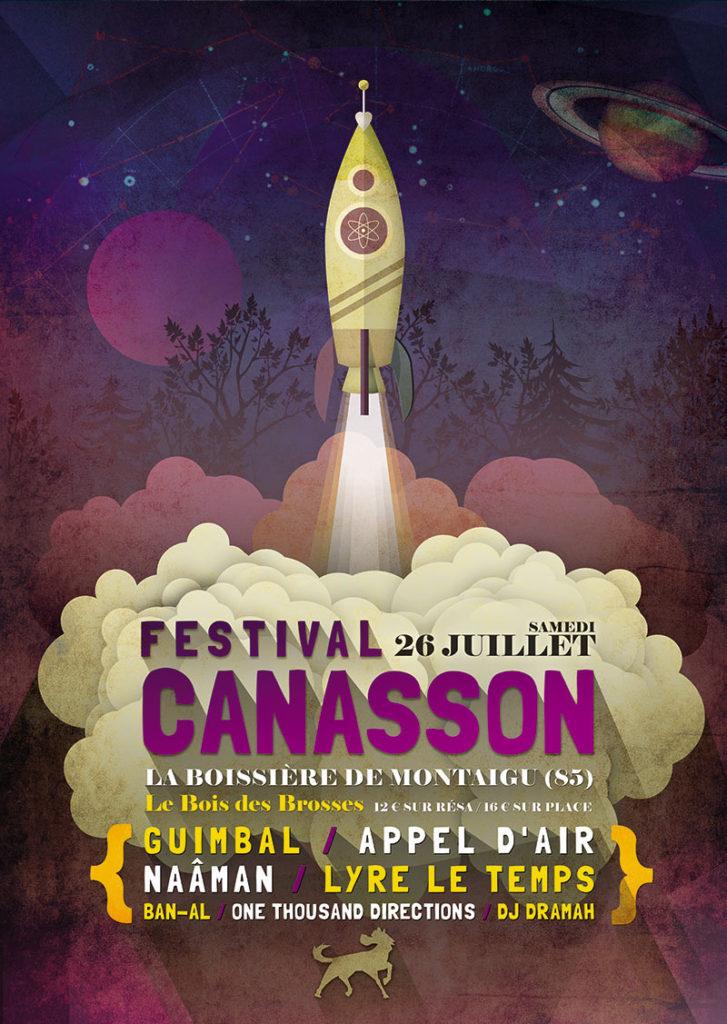 Création affiche Festival Canasson