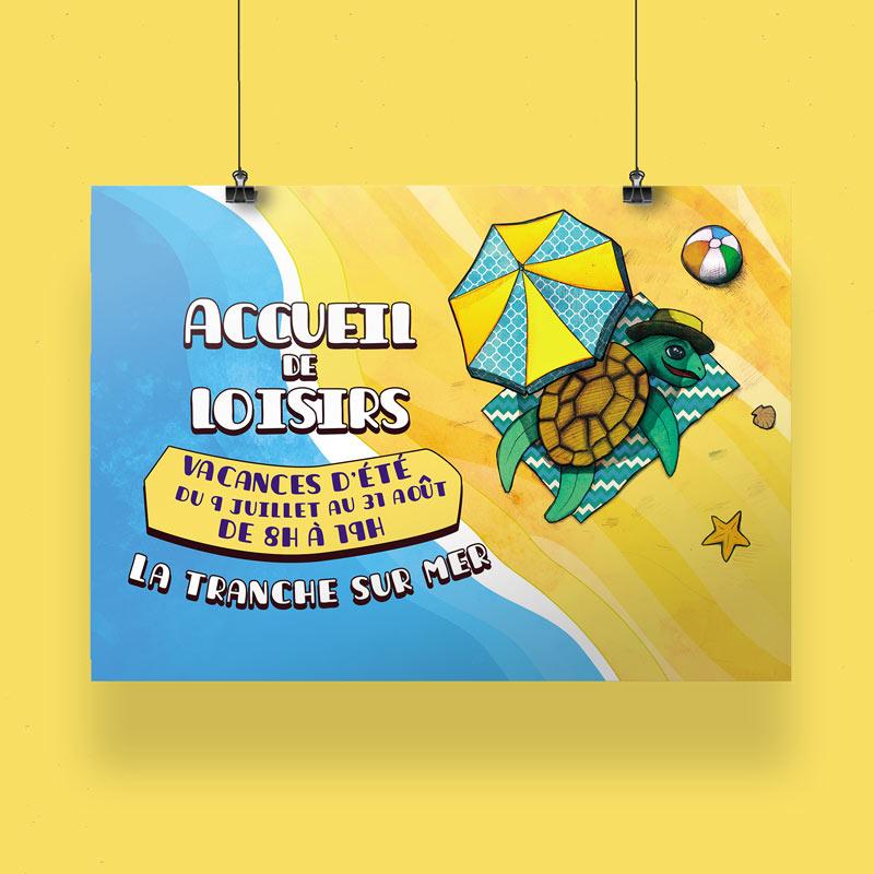 Illustrations et graphismes pour le centre de loisirs de la Tranche sur Mer