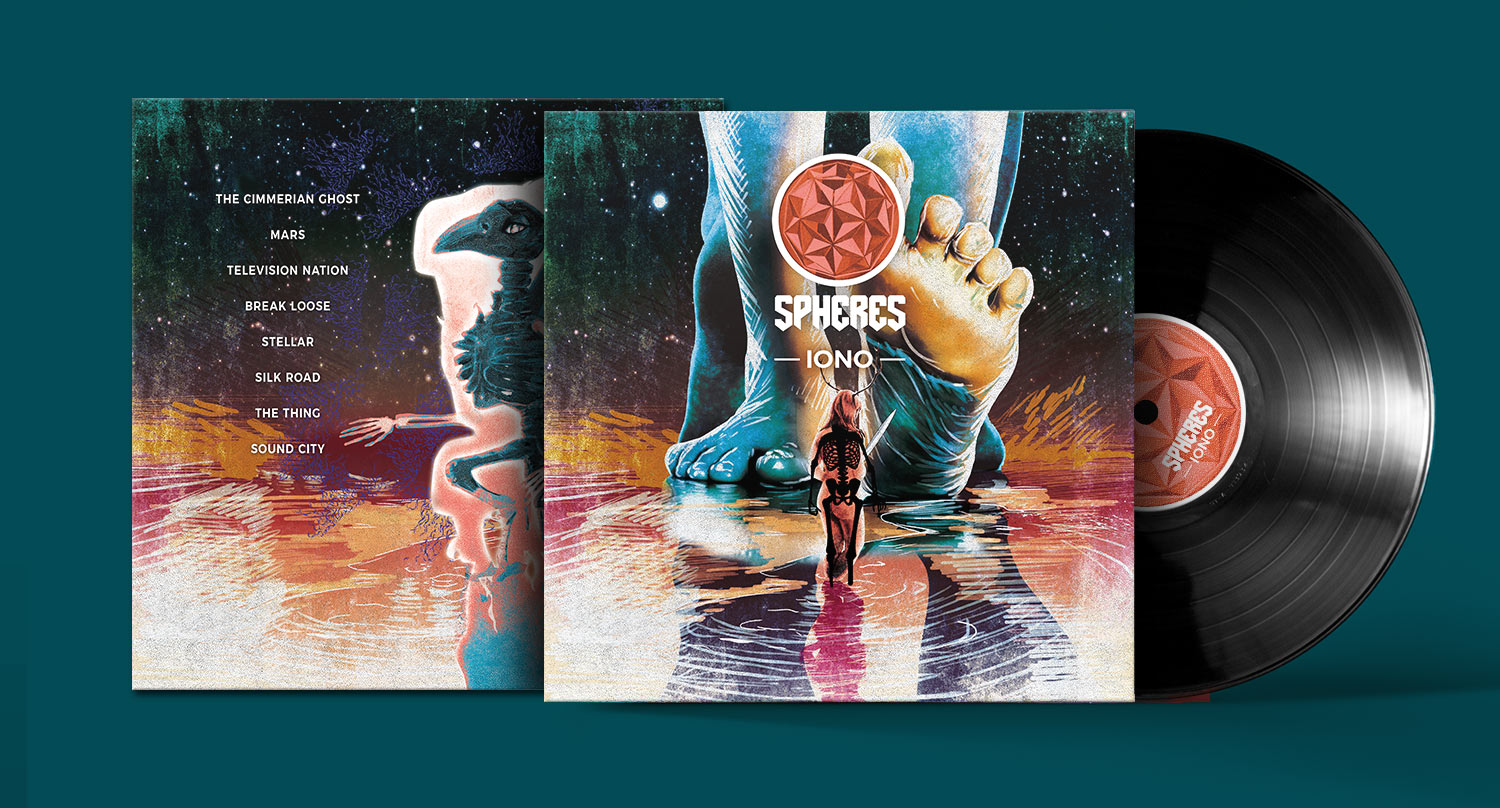 Artworking de l'album IONO pour le groupe Spheres