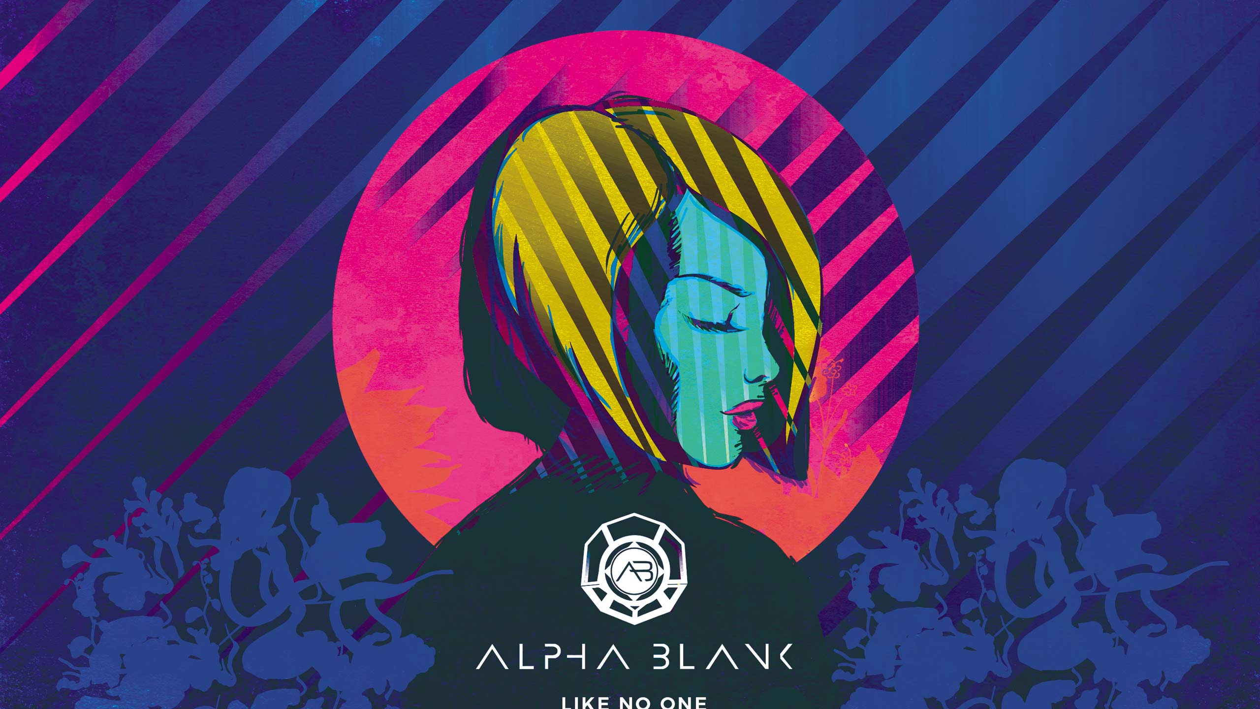 Artworking du single Like No one pour le groupe Alpha Blank