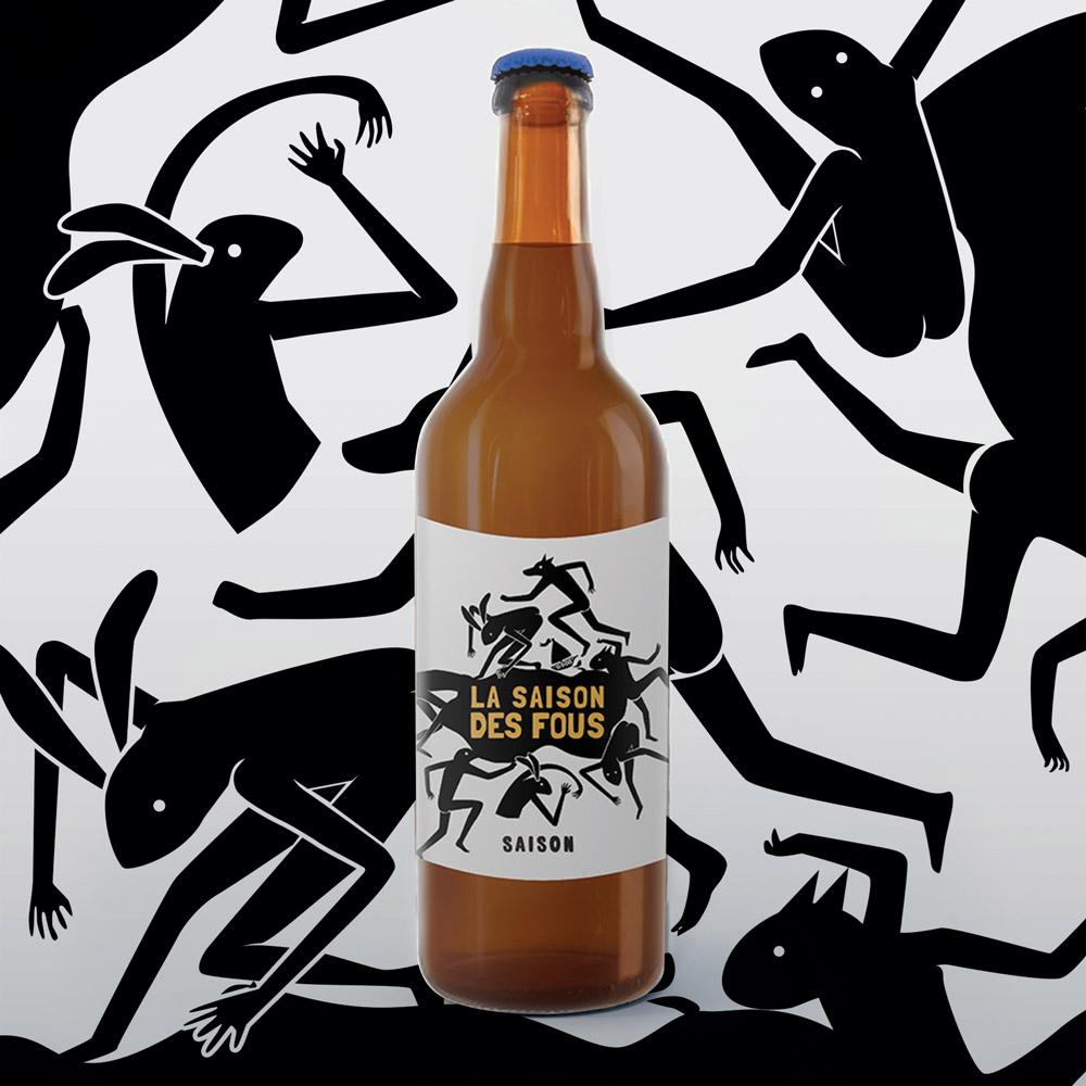 Illustrateur pour la bière La Saison des Fous